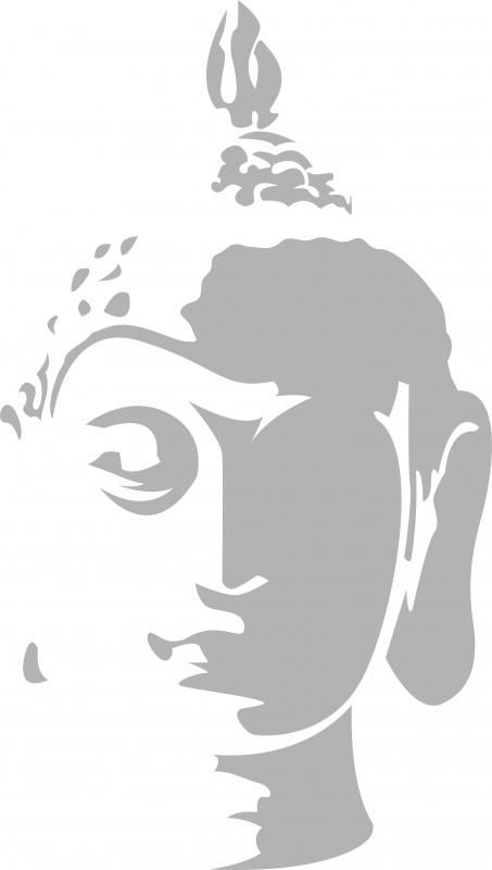 Glasfolie sticker: Boedha 1
