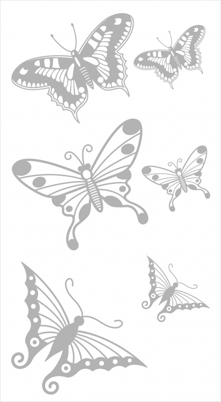 Glasfolie stickers: vlinderset