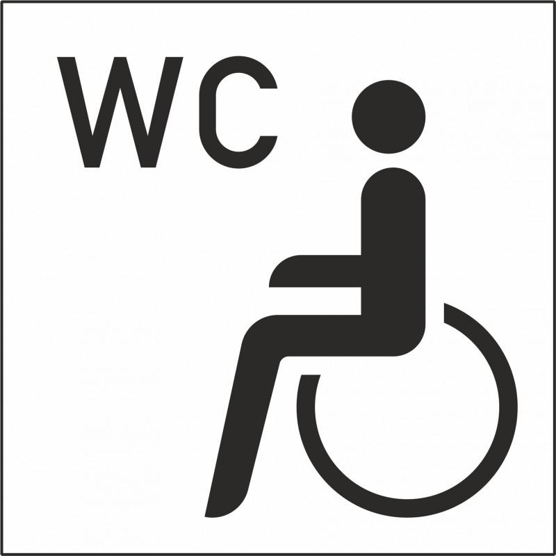 sticker wc rolstoel