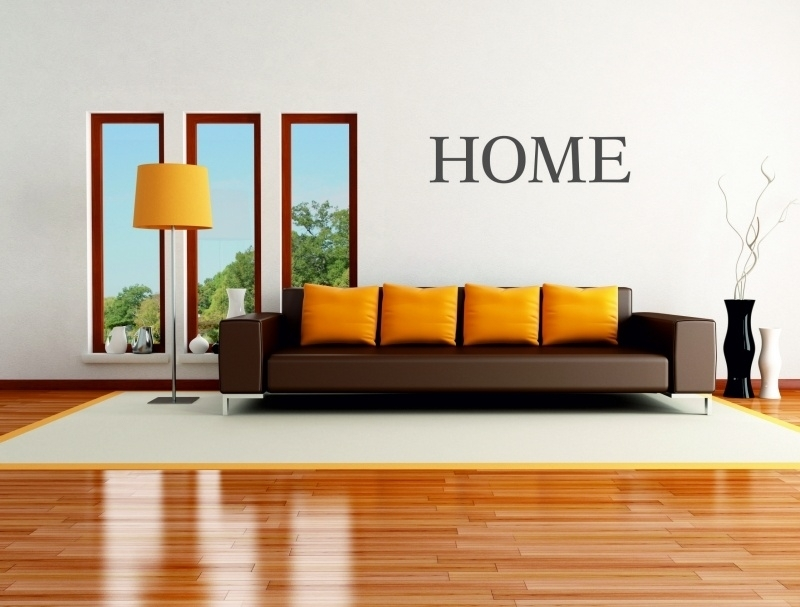 muursticker: HOME - prijs vanaf