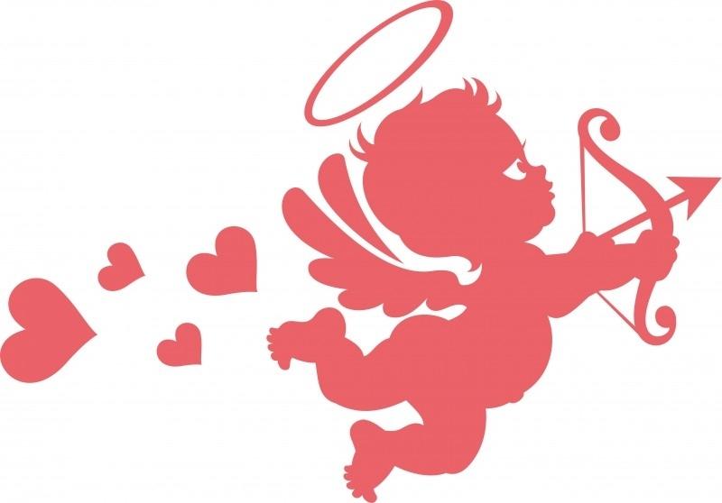 B13-322 Cupido met hartjes   prijs vanaf