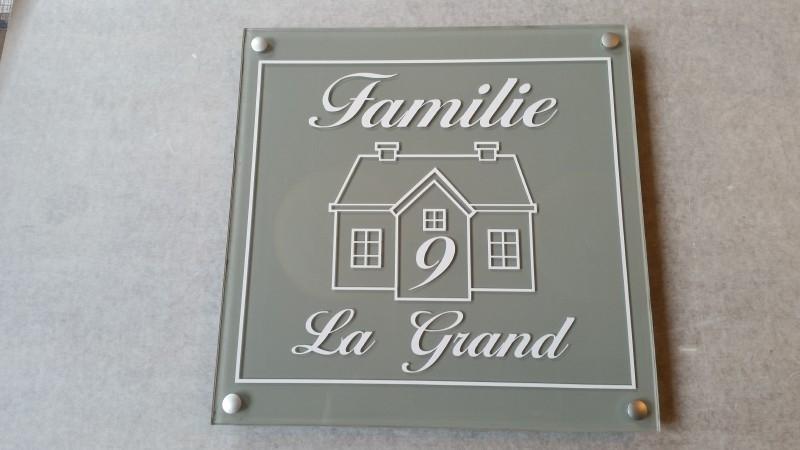 Ongekend plexiglas naambordje huis met naam   Naambordjes van plexiglas XH-04