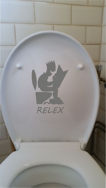 Toilet sticker: RELEX