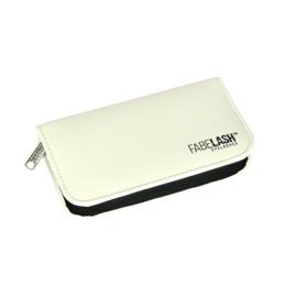 White Tweezer luxe bag zip (voor 6 pincetten)