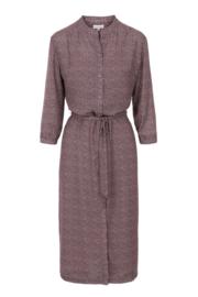 Lange Zusss jurk met print lila