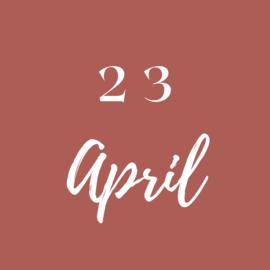 Vrijdag 23 April