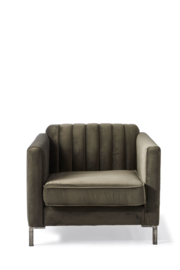 Miami Armchair, velvet, slate grey
