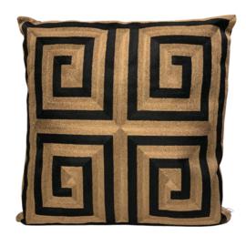 Cushion Black/Gold CO 50x50