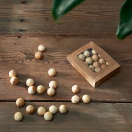 Natural Wood Decoration Balls