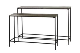 Side table S/2 max 119x25x80 cm HARTSVILLE d. bruin brons