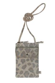 Handig telefoontasje leopard
