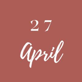 Dinsdag 27 April