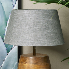 Loveable Linen Lampshade grey 28x38