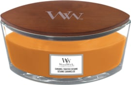 Caramel Toasted Seame Ellipse WoodWick® HearthWick Candle