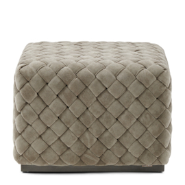 Room 48 Hocker, fine tweed, pebbles