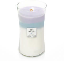 Calming Retreat Trilogy Large Candle WoodWick© 130h.