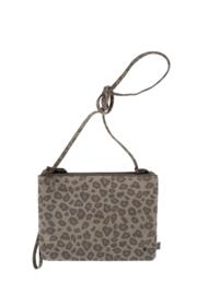 Dubbel tasje in het leopard