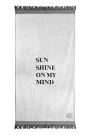 Strandlaken sunshine 90x200cm grijs