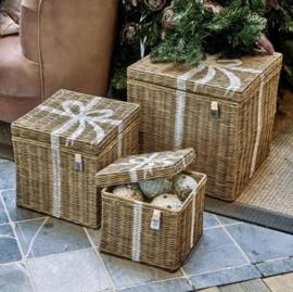 Rustic Rattan Pretty Present Basket Set of 3 pieces