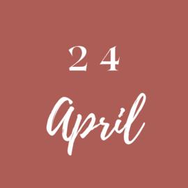 Zaterdag 24 April