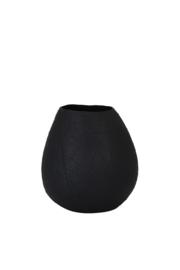 Vaas deco Ø23x25 cm JAKE keramiek mat zwart