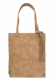 Basic shopper met kwast kaki