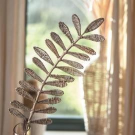 Rustic Rattan Leaf Bambo