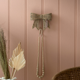 Rustic Rattan Pretty Bow Hook