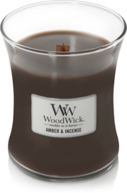 Amber & Incense Mini Candle WoodWick© 20h.