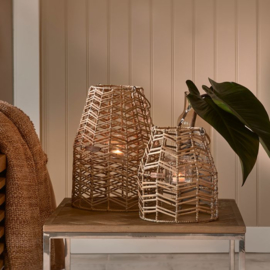 Sunset Breeze Herringbone Lantern S