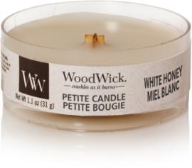 White Honey Petite Travel Candle WoodWick®