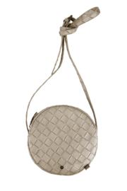 Kekke ronde tas metallic gevlochten