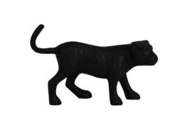 Ornament 20,5x5,5x13 cm PANTHER mat zwart