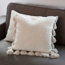 Fleur Pompom Pillow Cover 50x50