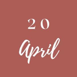 Dinsdag 20 April