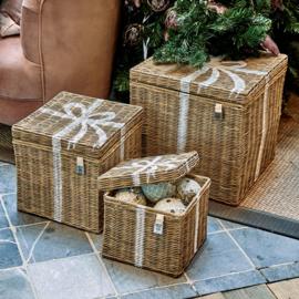 Rustic Rattan Pretty Present Basket S/3