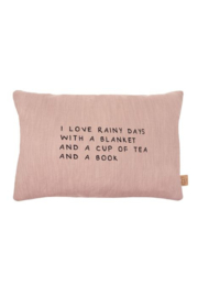 Kussen Rainy days 40x60cm rouge