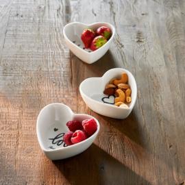 Lovely Heart Bowls 3 pcs