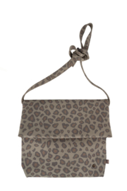 Basic schoudertas M leopard