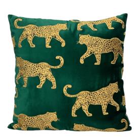 Cushion 50x50 leopard green Vl/CO