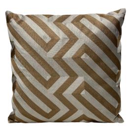 Cushion Gold/Ivory CO 50x50