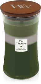 Mountain Trail Trilogy Large Candle WoodWick© 130h.