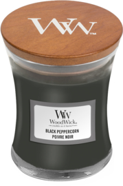 Black Peppercorn Mini Candle WoodWick© 20h.