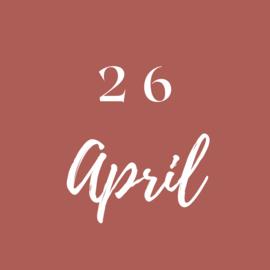 Maandag 26 April
