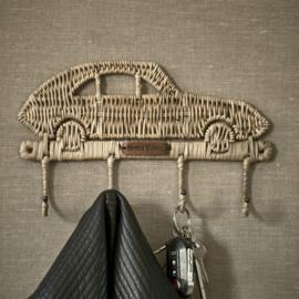 Rustic Rattan Car Coat Hanger