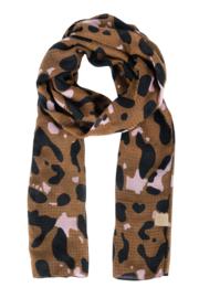 Sjaal met leopard print cacao