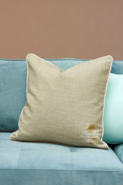 Palm Lane Classic Pillow Cover flax/green 50x50