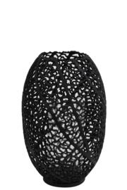 Windlicht Ø25,5x38 cm SINULA mat zwart