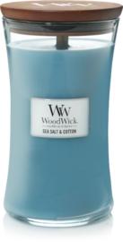Sea Salt & Cotton Large Candle WoodWick®
