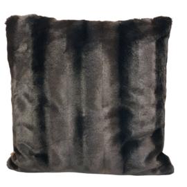 Cushion Brown/Black faux fur short hair 50x50